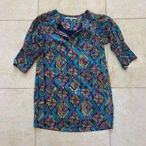 Collective Concepts Sz XS Shift Dress Geometric